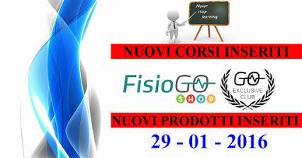Abbiamo inserito nuovi prodotto sul FisioGo Shop e nuovi corsi di Formazione sul calendario. Clicca sui Link sotto per scoprire le novità  VAI AL GO-SHOP --> http://goo.gl/8tDGC1 VAI AL CALENDARIO FORMAZIONE --> http://goo.gl/ecbx3r