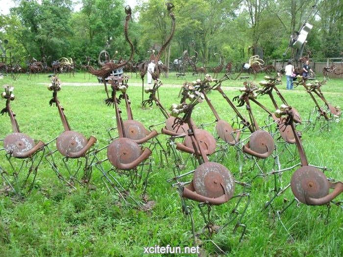 Recycled Metal Garden Ornaments Yard Art From Junk Metal Metal