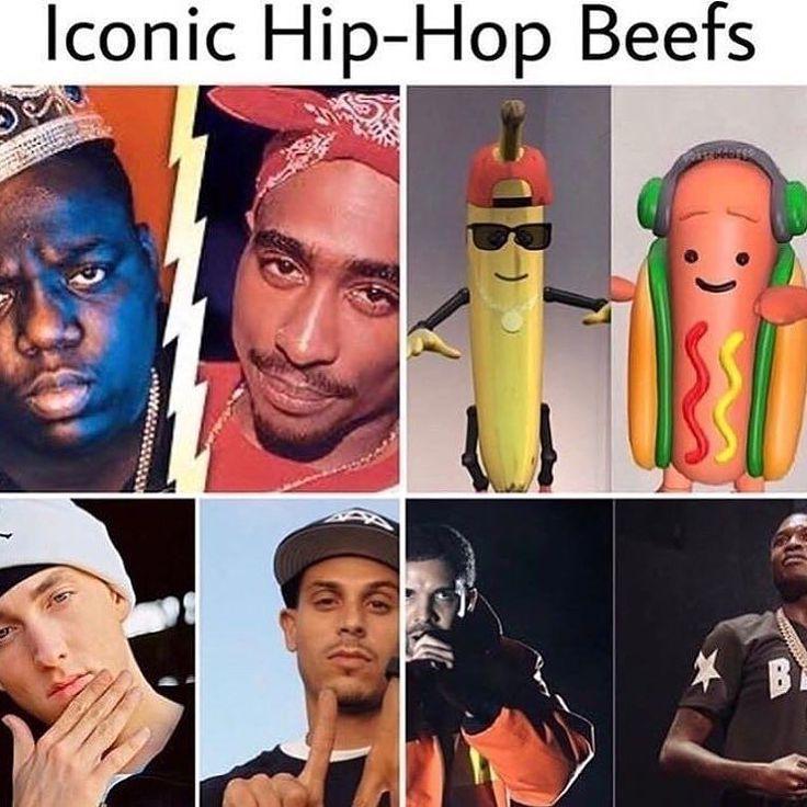 Too stupid . #hotdog #banana #beef #hiphop #rnb #tupac #biggie #eminem #drake #dontknowtheothers