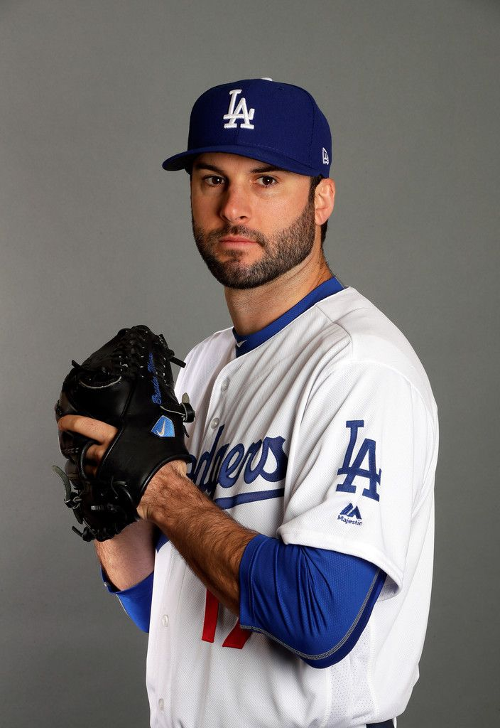 3007579e883 Brandon Morrow  17 of the Los Angeles Dodgers poses on Los Angeles Dodgers  Photo Day during Sprint Training on February 24