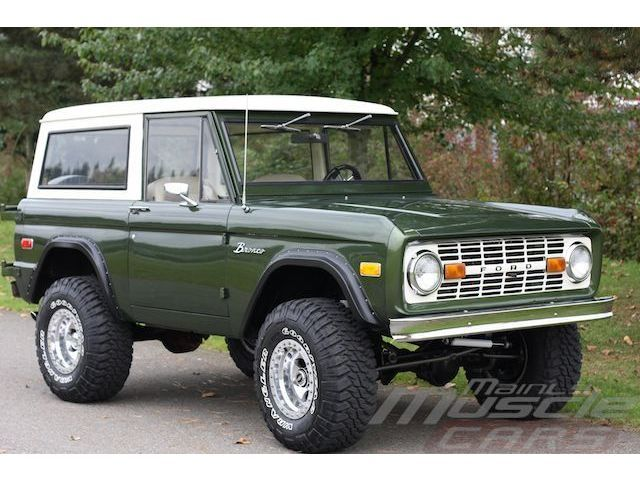 Green Bronco. It's not a Range Rover, but it's probably closer to our price range.