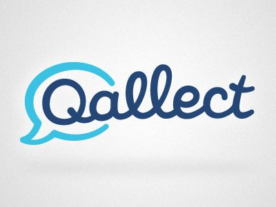 Qallect logo. Love the informal, inviting vibe.
