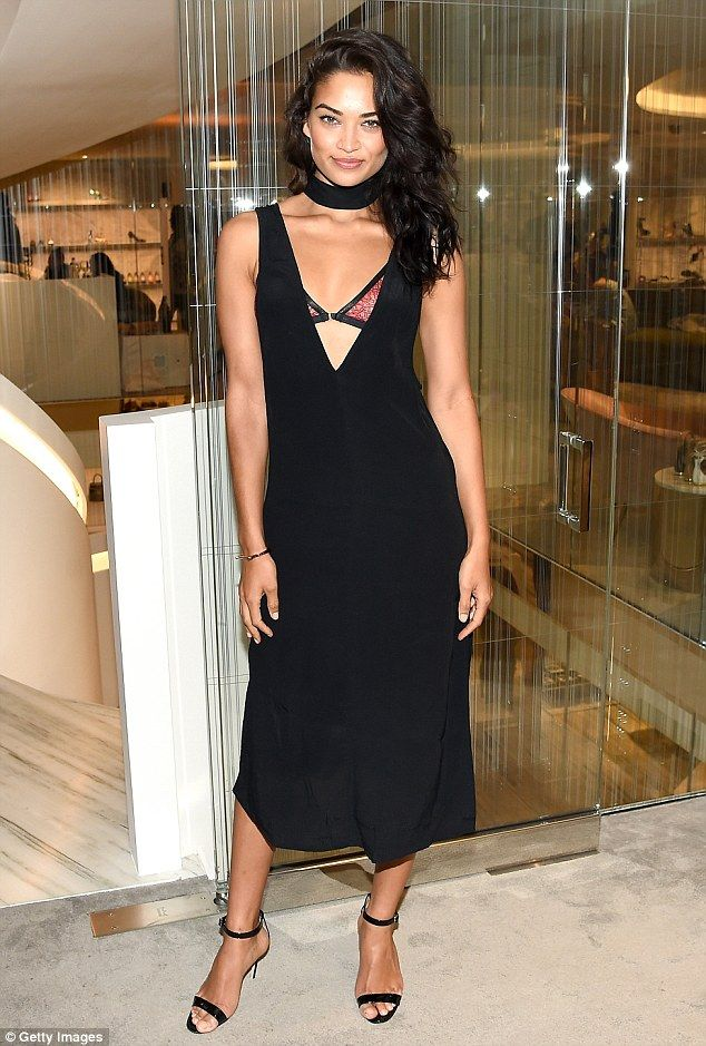 Oh la, la: Shanina Shaik steamed up the opening of Barney's New York new downtown flagship store on Thursday night
