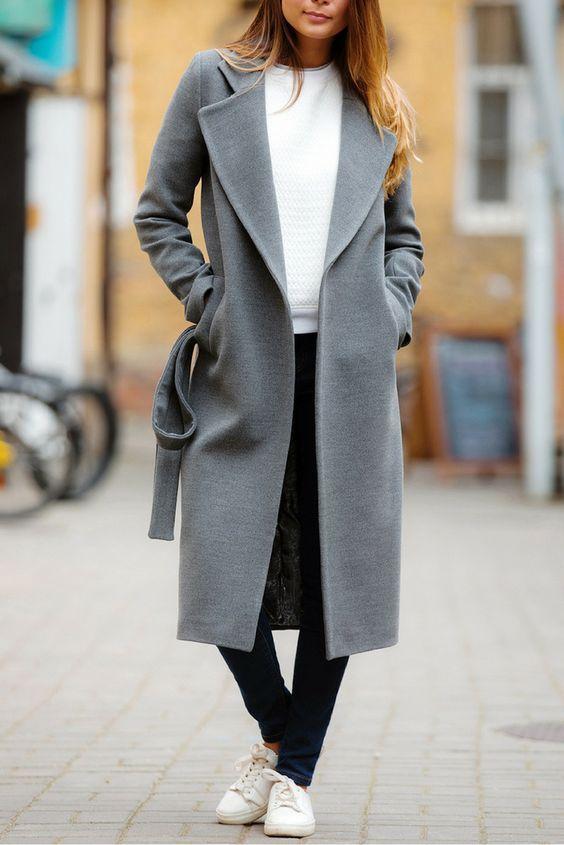0c55a65eb57 Стильный серый  20 модных образов с серым пальто (фото идеи)