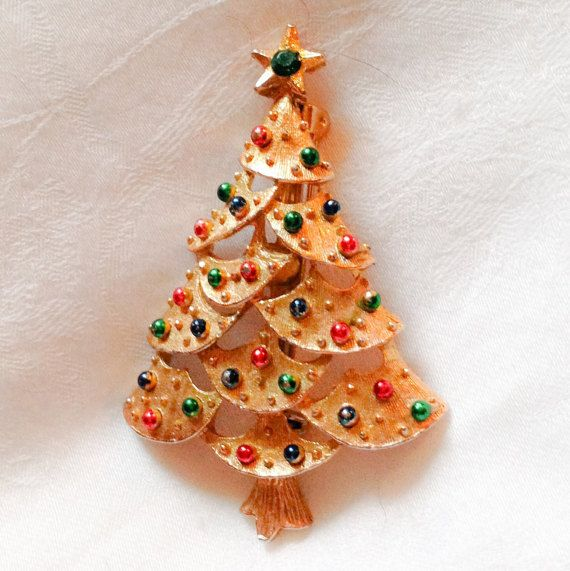 Vintage 60s Christmas Tree Brooch signed Gerry's / by MsMaude