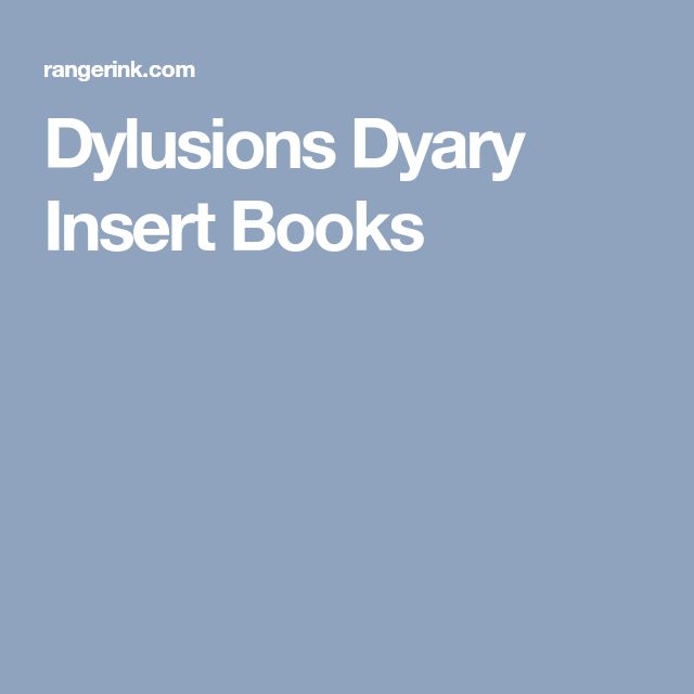 Dylusions Dyary Insert Books