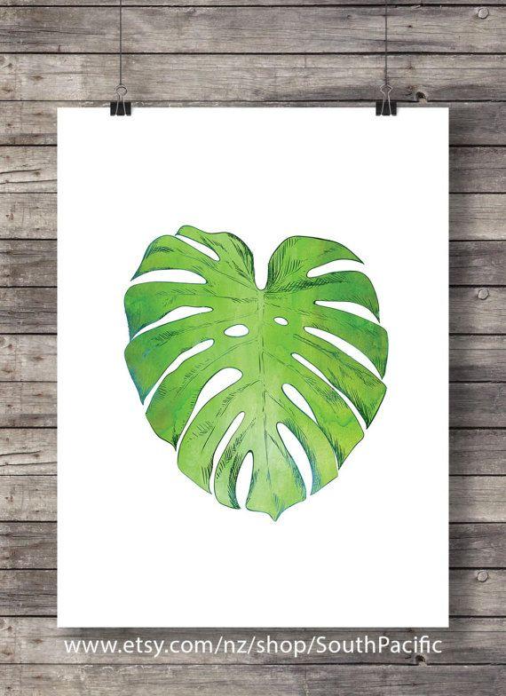 Hoja de Monstera | Ensalada queso suizo planta planta de fruta | ilustración botánica del árbol tropical | Arte de la pared para imprimir | Descarga inmediata HECHO CON AMOR ♥ 16 x 20 imprimir fácilmente reducido a 8 x 10 ____________________________ Imprimir tantas veces como quieras, bien para uso personal y pequeño comercial. Los colores son tal como se muestra en la foto. -------------------------------------------------------------------------------------- Después de confirmado el p...