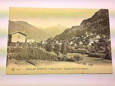 Vogogna - Val d'Ossola (VB) - veduta dalla ferrovia - viaggiata - 1906