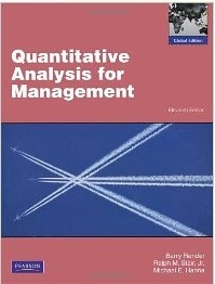It contains: 1. Introduction to quantitative analysis. 2. Probability concepts and applications. 3. Decision analysis. 4. Regression models. 5. Forecasting. 6. Inventory control models. 7. Linear programming models: graphical and computer methods. 8. Linear programming applications. 9. Transportation and assignment models. 10. Integer programming, goal programing, and nonlinear programming. 11. Network models. 12. Project management. 13. Waiting lines and queuing theory models (...)