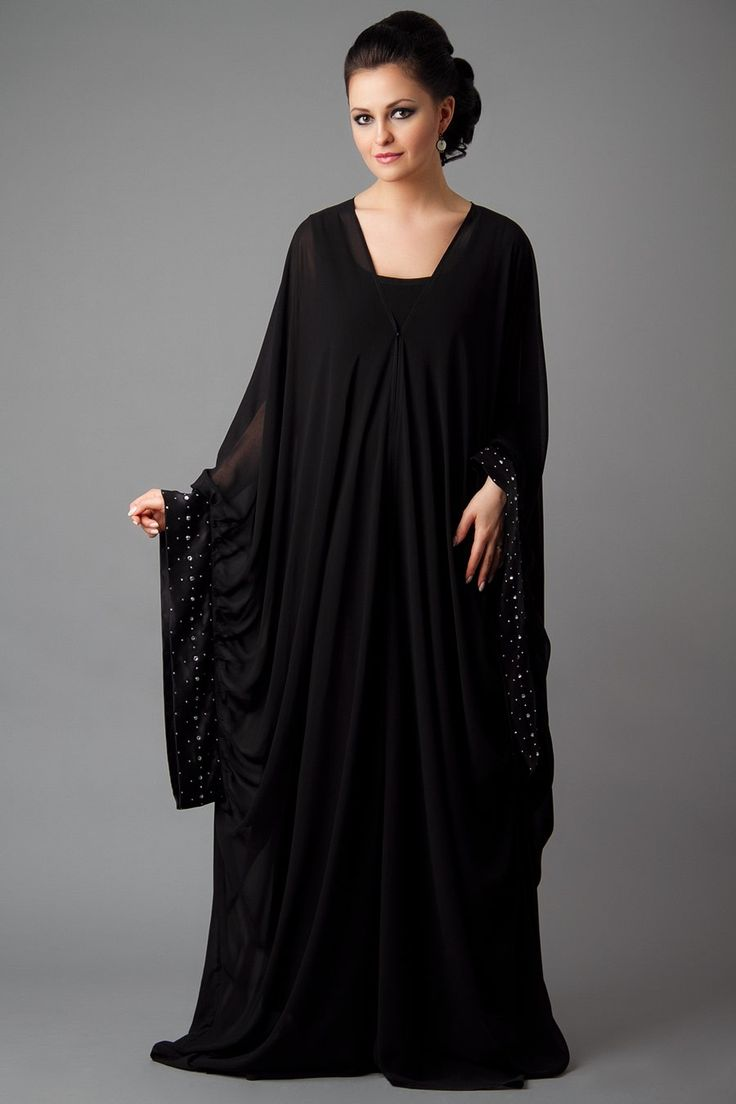 15 Most Popular Dubai Style embroidered Abayas #abayas #hijab