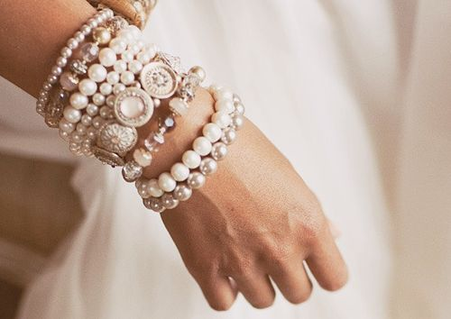 Stacked pearls. FOR THE LOVE OF PRETTY.