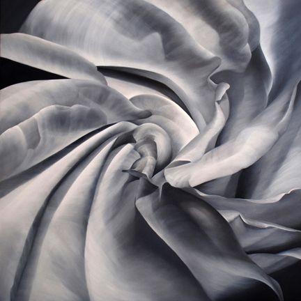 VORTEX, oil on canvas, 30 x 30 inches, 2010.   View more #fractals: http://deborahbigeleisen.com/fractals/