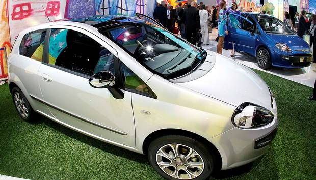 2009 Fiat Punto Evo is seen on the first press day of the Frankfurt Auto Show in Frankfurt, Germany, Tuesday, Sept. 15, 2009. The car fair runs through Sept. 27.