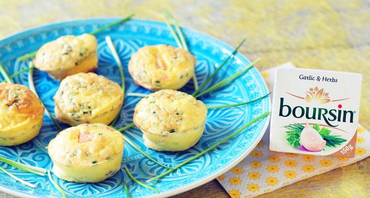 Ei muffins met zalm en Boursin | koolhydraatarm Door Sponsored, 12 april 2014