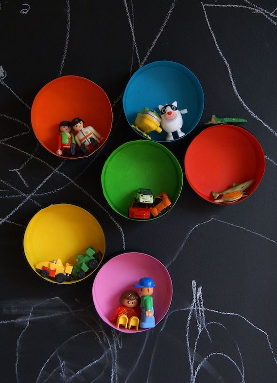 .Cute toy bowlsDiy Home Decor, Wall Boxes, Diy Ideas, For Kids, Kids Room, Kidsroom, Kid Rooms, Diy Wall, Chalkboards Wall