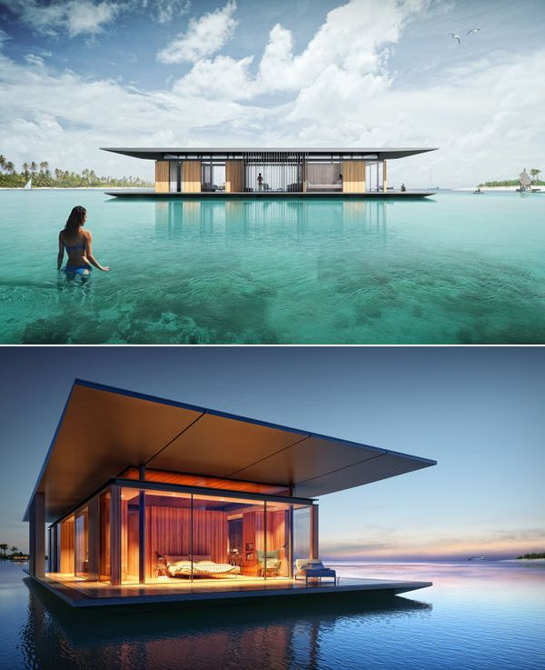 Floating House by Dymitr Malcew. I bet this would be the ideal home for most nature lovers out there. A house that floats on water, with enough rooms for a small family – it almost seems too good to be true.