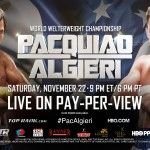 Manny Pacquiao vs Chris Algieri Preview, Predictions