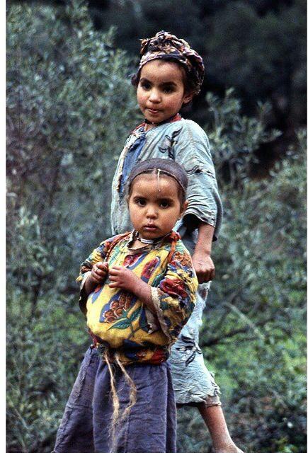 Berber childten, Morocco , 1971