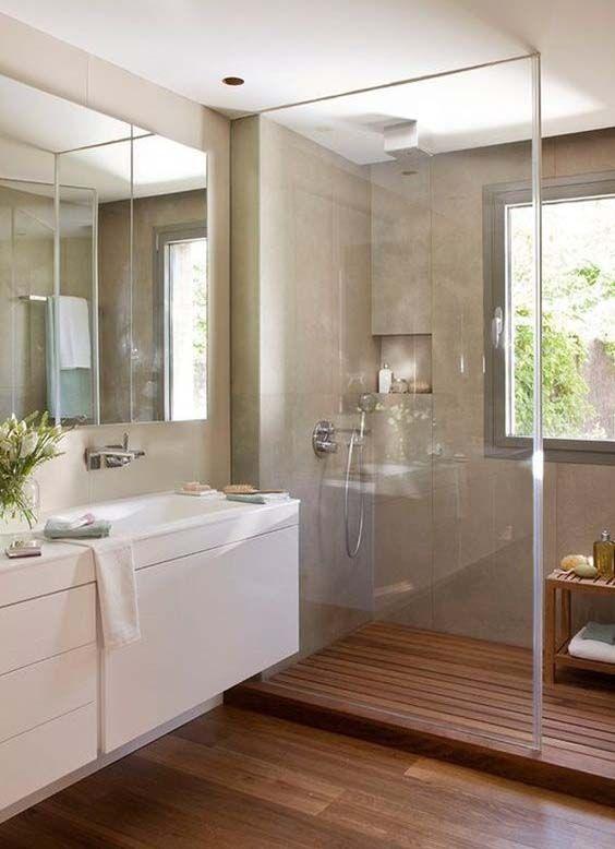 Ba o blanco azulejos para ba os peque os pinterest - Alicatado banos pequenos ...