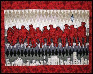 Carla Hemlock depicts the Mohawk Nation in striking stitchwork