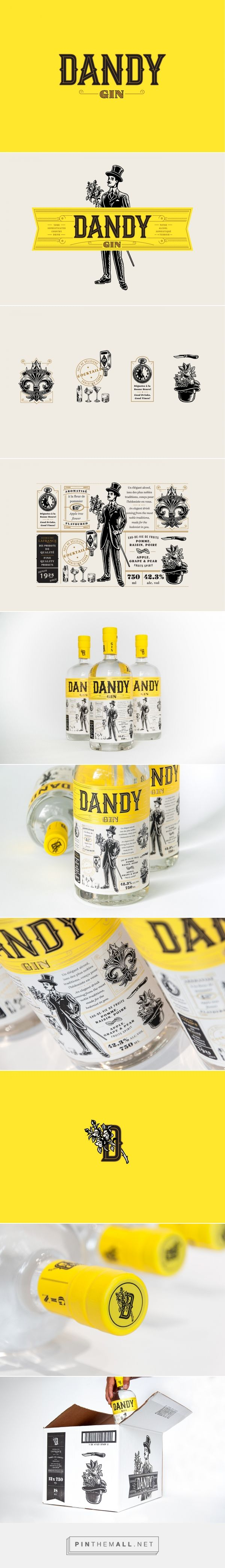 Dandy Gin Packaging by Polygraphe Studio | Fivestar Branding Agency – Design and Branding Agency & Curated Inspiration Gallery