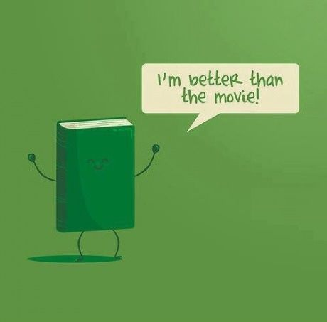 A #book is better than a #movie