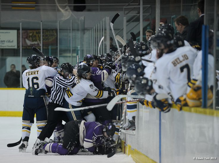 Just another day against Western.....2012-13 Men's Hockey, Credit: Edwin Tam