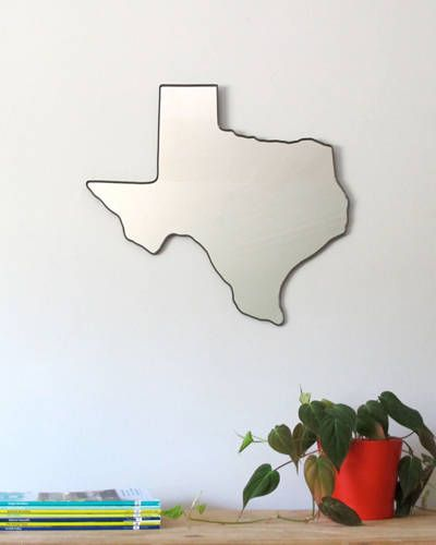 A mirror in the shape of Texas