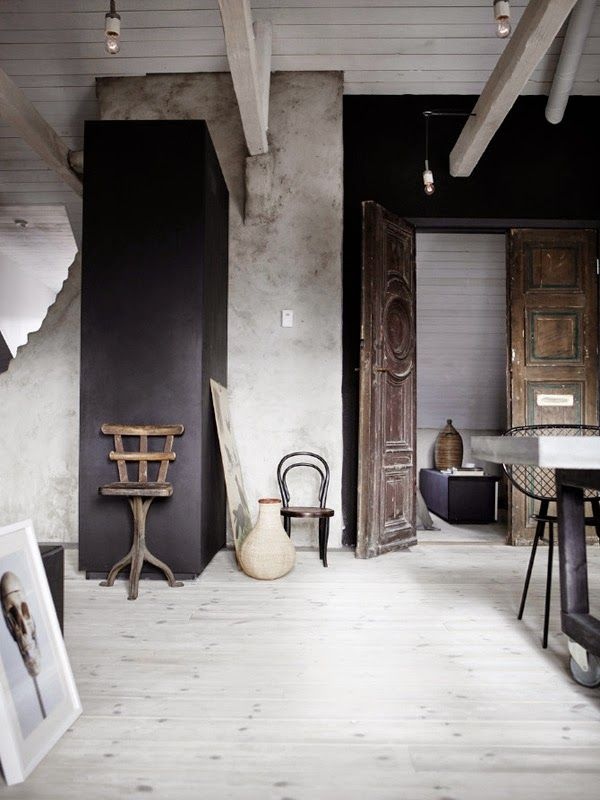 A home with grey accents and a mix of old and new