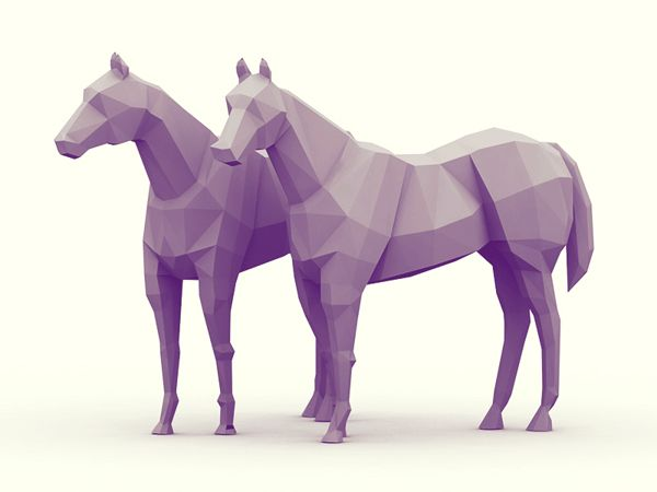 Low-Poly [Animal Kingdom] by Timothy J. Reynolds, via Behance