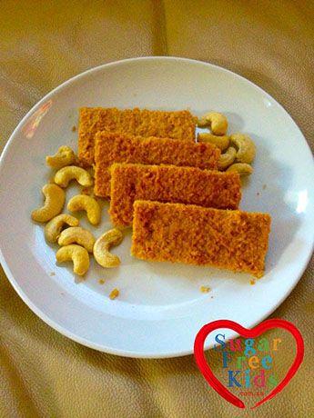 Pear & Cashew Bars - Sugar Free Kids | Sugar Free Kids