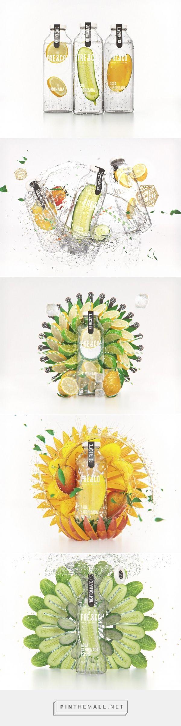 Fresco flavored water bottle designed by Estudio NK (Argentina) - http://www.packagingoftheworld.com/2016/03/fresco-bottles.html - created via https://pinthemall.net