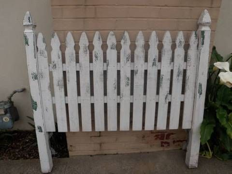 fence headboards | Queen Picket Fence Headboard for $100 for Sale in Goleta, California ...