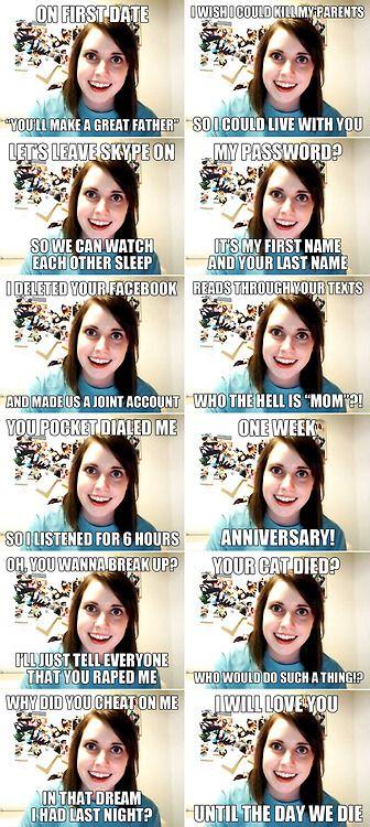 Psycho Ex Girlfriend Meme Best 25+ Overly attach...