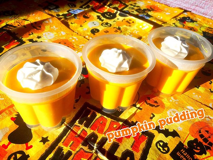 咲きちゃん's dish photo ともちゃんの 簡単パンプキンプリン   http://snapdish.co #SnapDish #レシピ #ハロウィン #プリン/ゼリー
