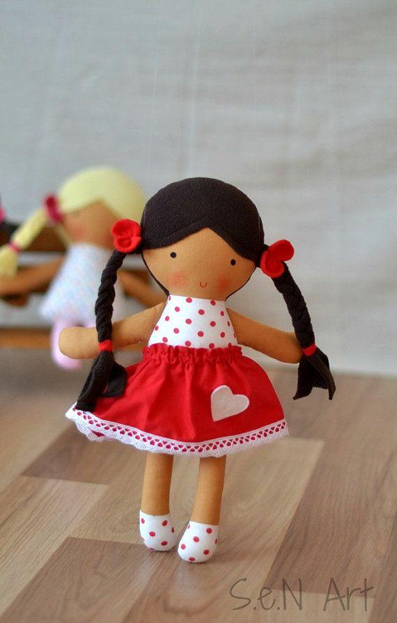 Handmade Doll Fabric doll hand made Rag doll Soft Doll by SenArt1