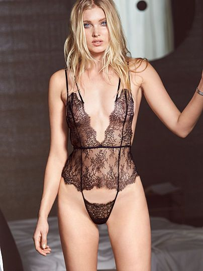 Chantilly Lace Plunge Teddy Very Sexy Shopping Elsa