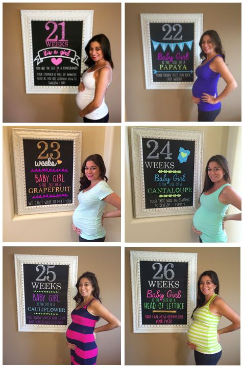 chalkboard weekly pregnancy sign More