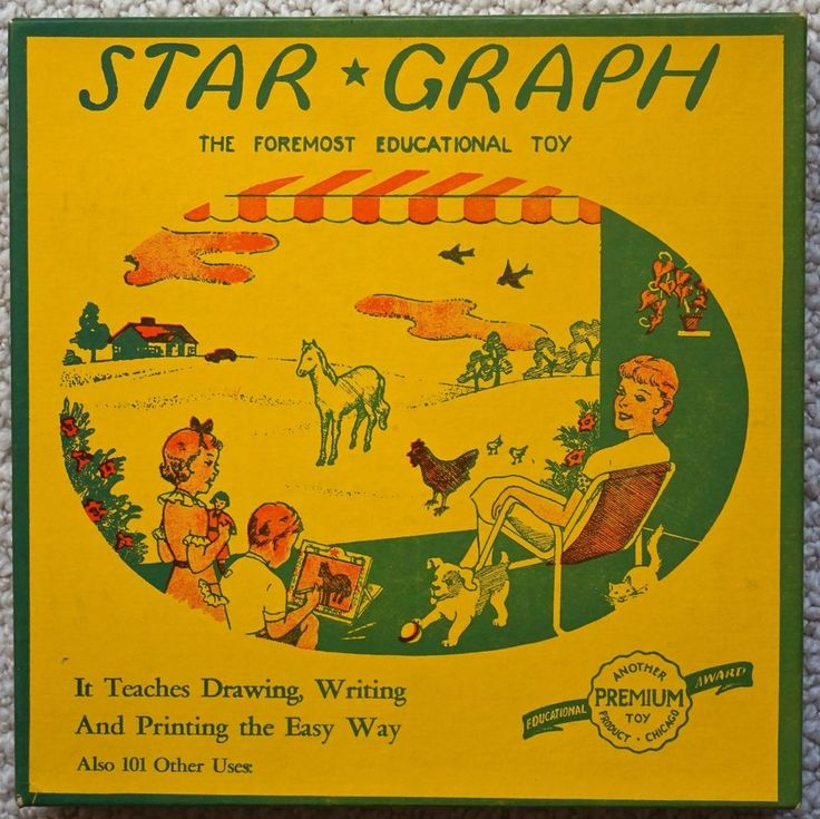 Vintage Catholic Order Of Foresters Star-Graph Tracing Board Toy - Great box Graphics