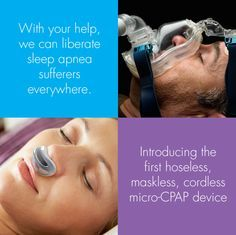 airing the first hoseless maskless microcpap our mission a technology to treat sleep apnea that people will actually use