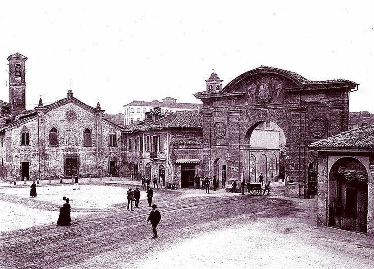 Lodi, Porta d'Adda e la vecchia chiesa di San Rocco 1909