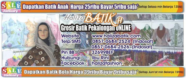 Kumpulan blogger toko haliza batik yang mengulas secara rinci produk-produk haliza batik