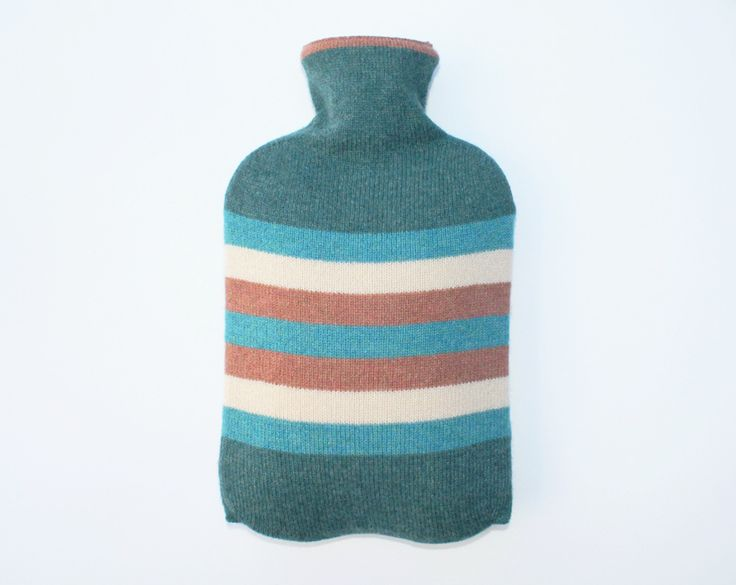 Lucy Donnell — HOT WATER BOTTLE - MARINE/COLOUR STRIPE MADE IN SCOTLAND http://www.lucydonnell.co.uk/products