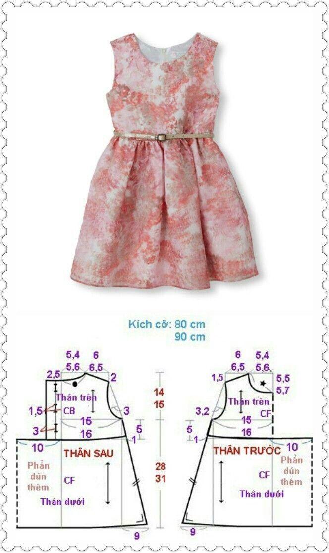 0번째 이미지   CHART   Pinterest   Vestidos de niñas, Patrones y ...