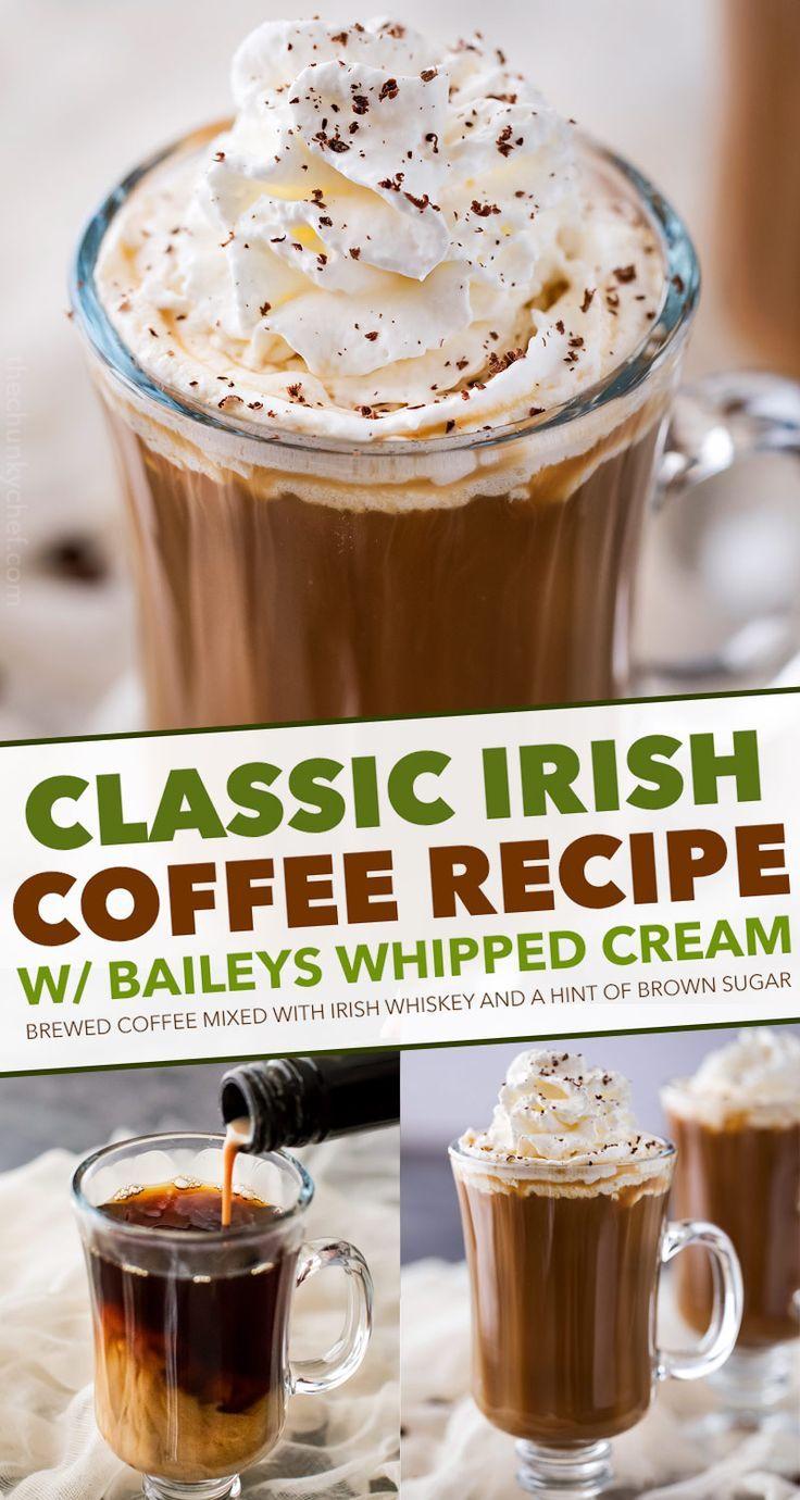 Irish Coffee is made with black coffee, Irish whiskey