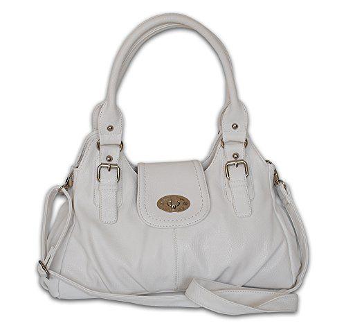 JENNIFER JONES moderne Damen Handtasche Toskana weiß