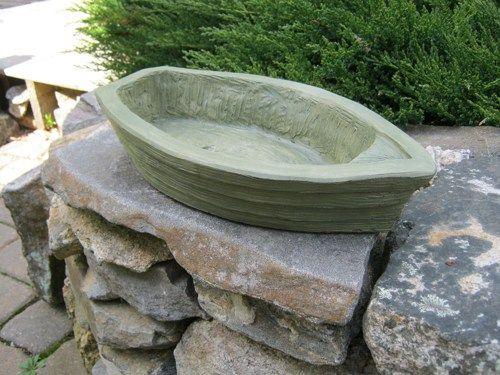 Boat Planter Concrete Flower Pot Painted Cement Garden