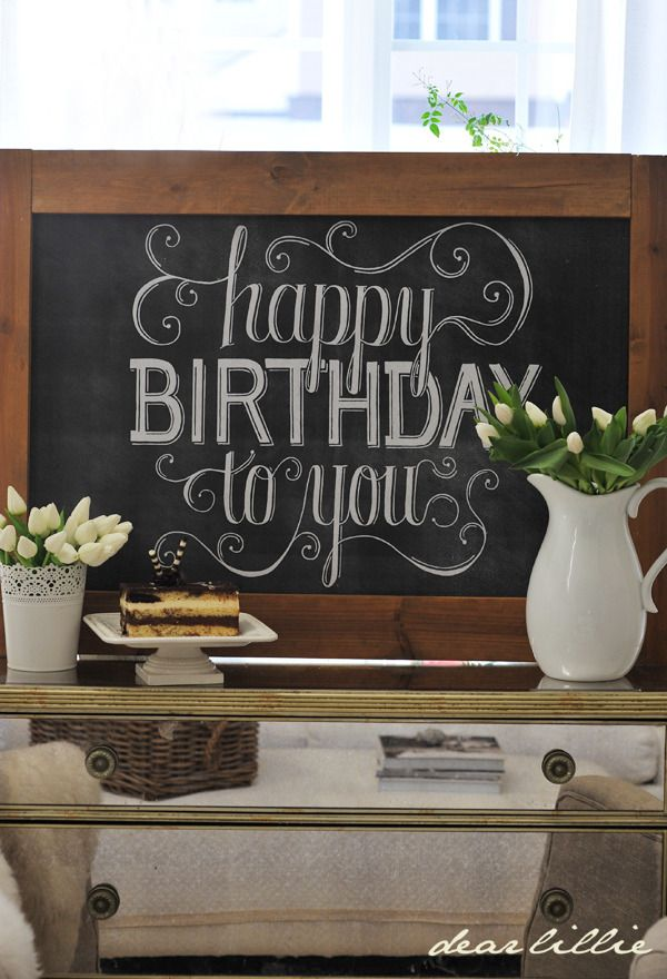 Image of Happy Birthday 24x36 Chalkboard Download