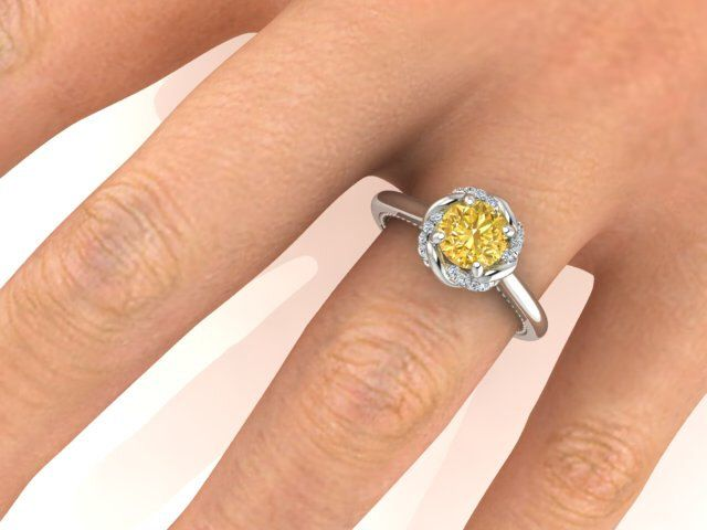Engagement ring, Natural Yellow Sapphire & Diamonds Wedding and Engagement ring, Venetian Collection by Bridal rings, The best Proposal ring by BridalRings on Etsy https://www.etsy.com/listing/240269680/engagement-ring-natural-yellow-sapphire