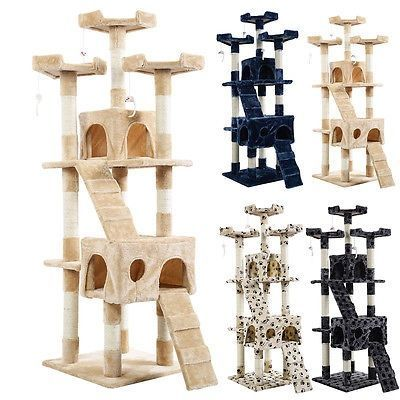 nice New 66 Cat Tree Tower Condo Furniture Scratching Post Pet Kitty Play House - For Sale and like OMG! get some yourself some pawtastic adorable cat apparel!